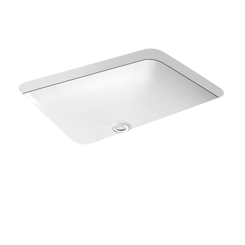 """Kohler Forefront Under-counter Lavatory 22"""" K-2949T-0 Features a symmetrical, deep basin and rounded edges in true minimalist fashion"""