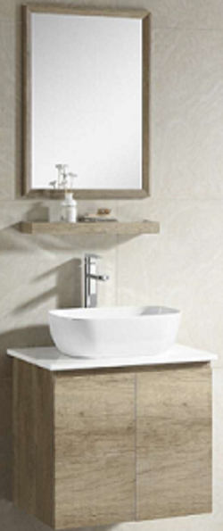 Zaffiro basin with cabinet 8260B-60
