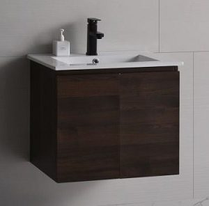 Baron basin with cabinet A103 Acacia wood color