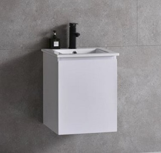 Baron basin with cabinet A106-Pearl-White