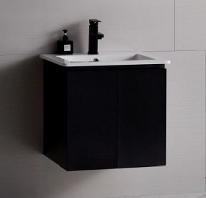 Baron basin with cabinet A106B-Pearl-Black