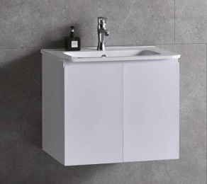 Baron basin with cabinet A106B-Pearl-white
