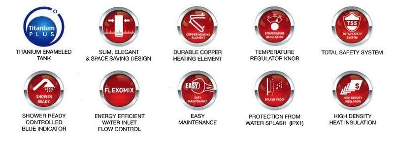 Ariston storage water Heater main features