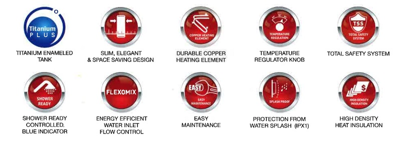 Ariston storage water Heater main features