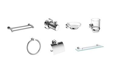 baron 7 piece bathroom toilet accessories set 8285