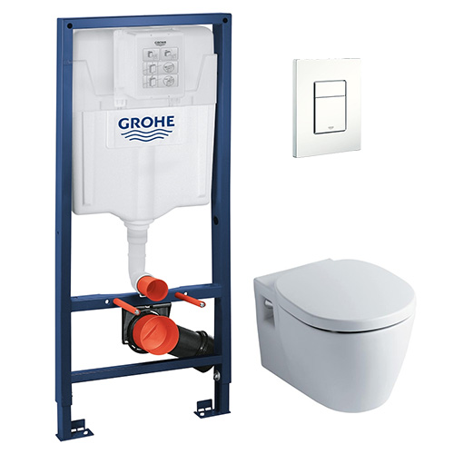 Concept Nuovo Wall hung WC + Concealed Cistern + Flush Plate PROMO