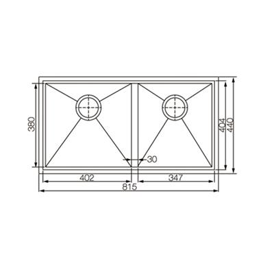 EC22106 Double bowl kitchen sink Specifcation