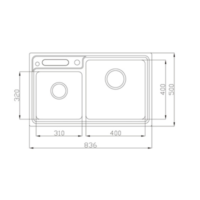 EC32201 Double bowl kitchen sink Specification
