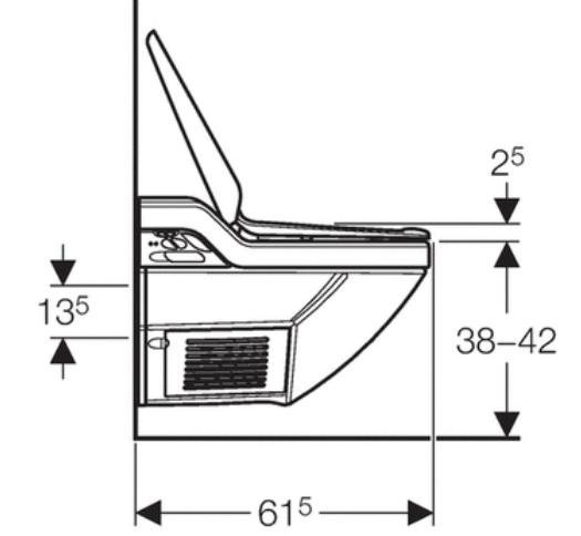 Geberit Aquaclean 8000plus Specification drawing 1