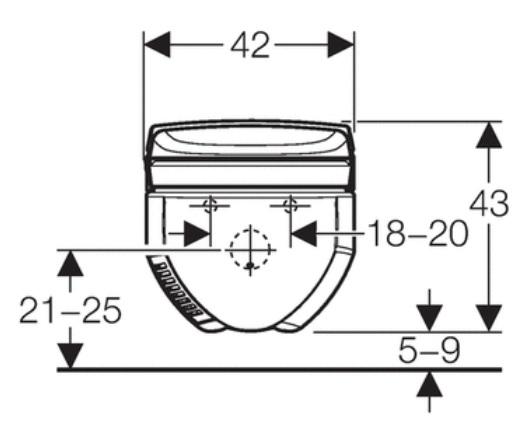 Geberit Aquaclean 8000plus Specification drawing 2