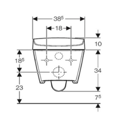 Geberit Aquaclean Sela Specification Drawing 2
