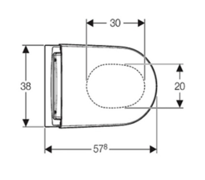 Geberit Aquaclean Sela Specification Drawing 3