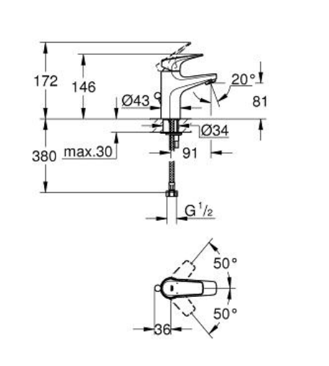 Grohe 23098000 Specification