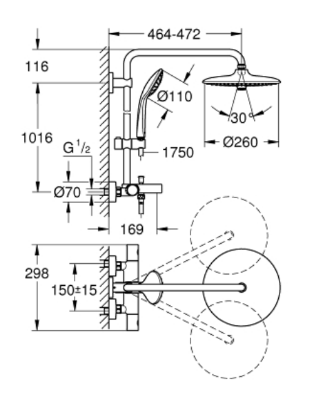 Grohe 26114001 Specification