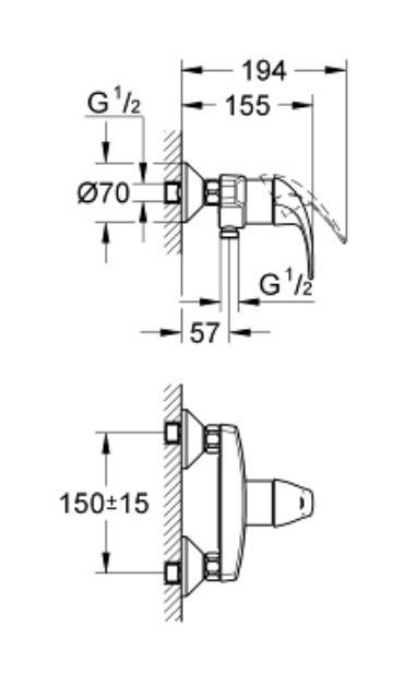Grohe 32807000(23631000) Specification
