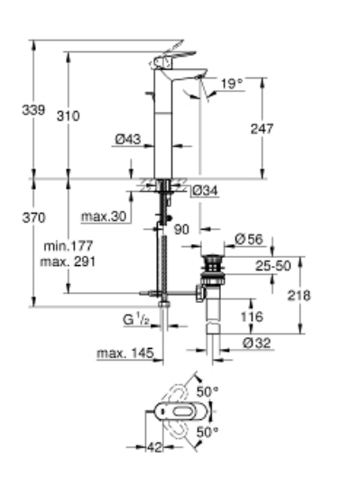 Grohe 32856000 Specification