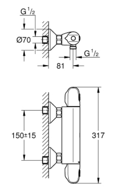 Grohe 34143003 Specification