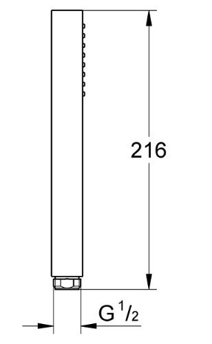 Grohe-Euphoria hand shower 27698000 Specification