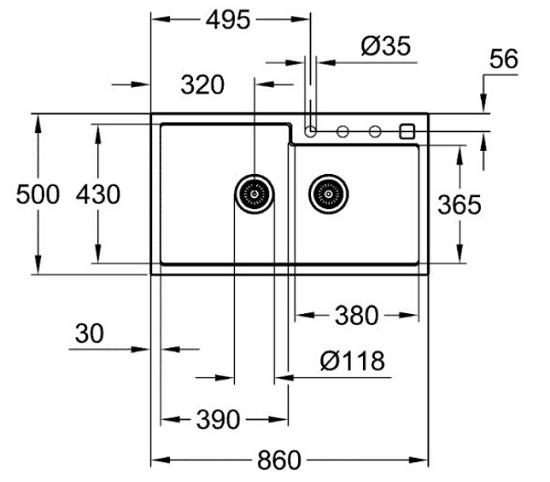 Grohe-K500-Kitchen sink-31649AP0 Specification 1