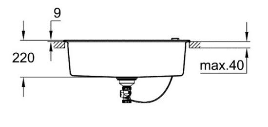 Grohe-K700-Kitchen sink-31652AP0 Specification 2