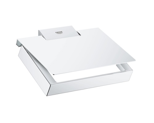Grohe-Selection Cube Toilet Paper holder with cover-40781000