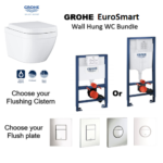 Grohe EuroSmart Wall Hung WC+Concealed Cistern+ Flush plate Promotion