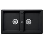 Hafele Granite kitchen sink Antonious HS-GD8650 Black
