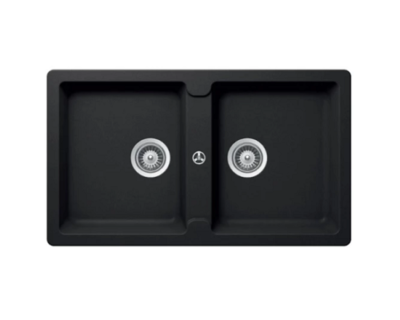 Hafele Granite kitchen sink Antonious HS-GD8650 Black