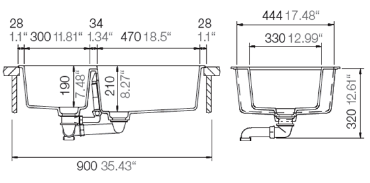 Hafele double bowl sink specification 2