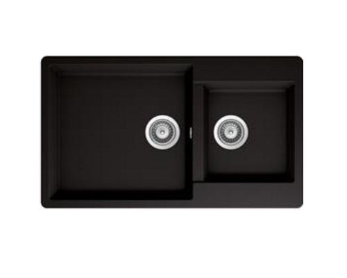 Hafele Double Bowl Granite kitchen sink 570.37.390 Black