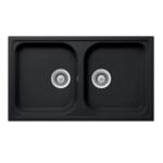 Hafele Granite kitchen sink Julius HS-GD8650 Black