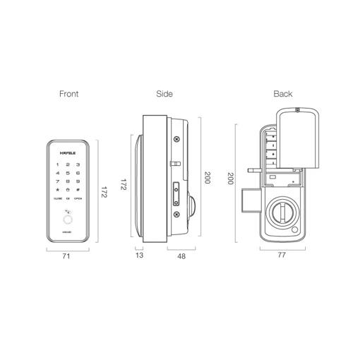 Hafele Digital Door Lock ER5100 DRW