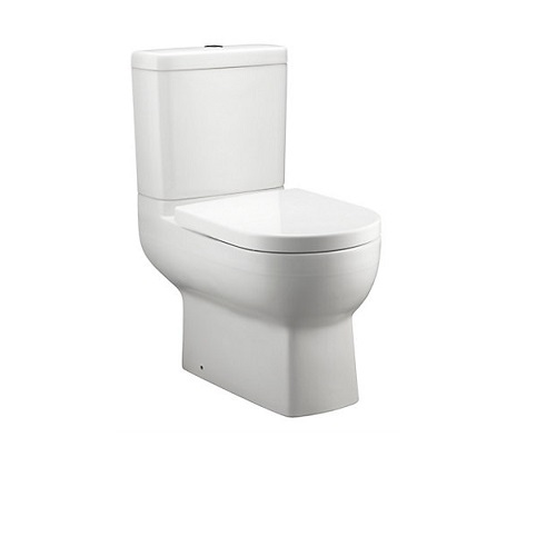 Kohler Odeon Up Close-Coupled Washdown Toilet with S-trap K-77037K-0 Concealed trap-way design enables easy cleaning, 650mm in length address small bathrooms needs, 2.6/4L excels in water conservation, S trap: 305mm