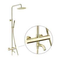 Zaffiro PRS-5107.99SS(BG) Rainshower column Set Brushed Gold
