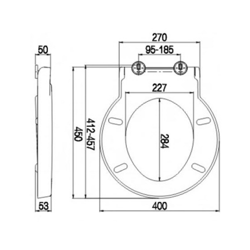 SC330HD Toilet Seat and Cover Technical Specification
