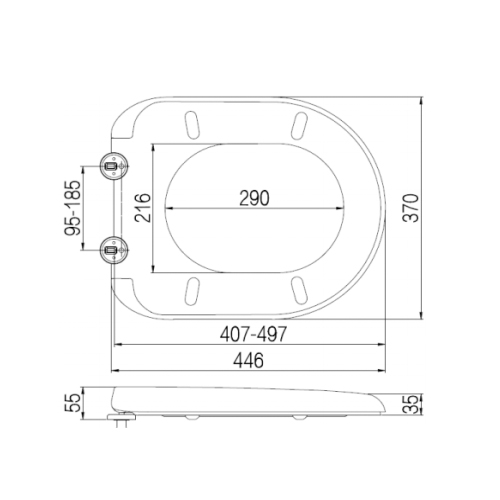 SC331HD Toilet Seat and Cover Technical Specification