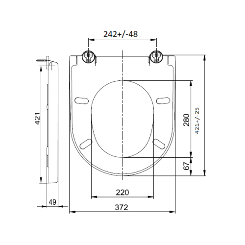 SC333HD Toilet Seat and Cover Technical Specification