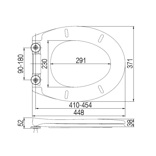 SC335HD Toilet Seat and Cover Technical Specification