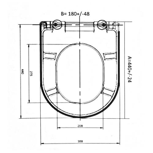 SC336HD Toilet Seat and Cover Technical Specification