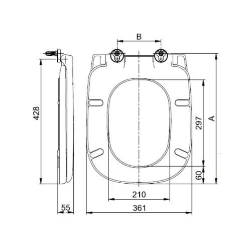 SC339HD Toilet Seat and Cover Technical Specification