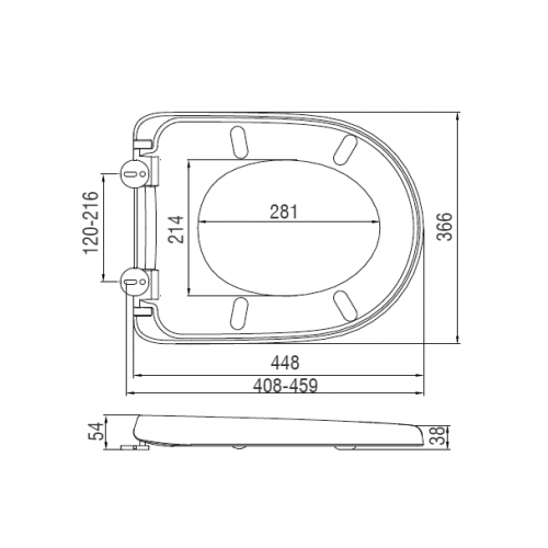 SC341PP Toilet Seat and Cover Technical Specification