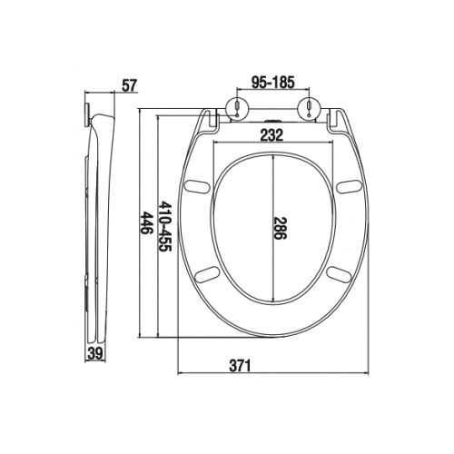 SC342PP Toilet Seat and Cover Technical Specification