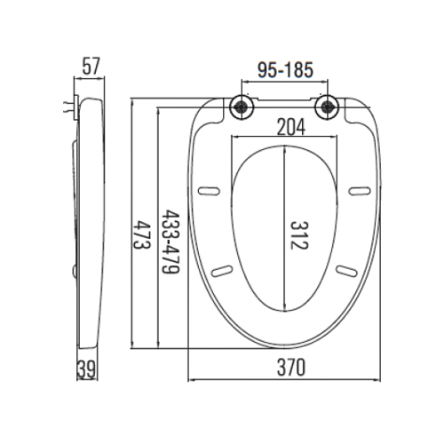 SC375HD Toilet Seat and Cover Technical Specification