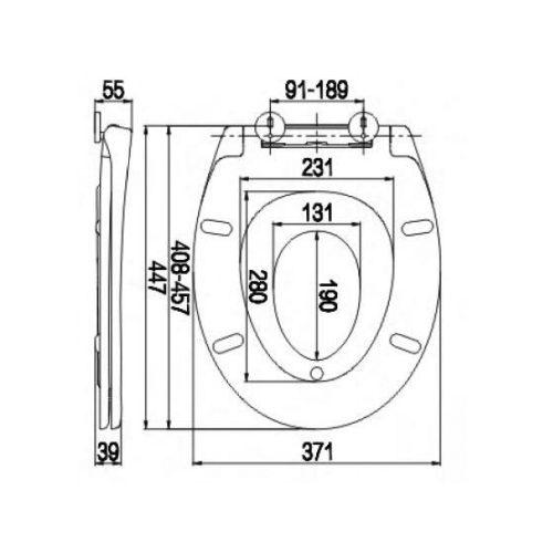 SC380PP Toilet Seat and Cover Technical Specification