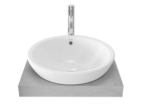 TOTO semi recessed basin