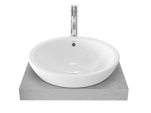 TOTO semi recessed basin