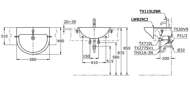 TOTO-LW829CJ Specification