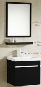 Zaffiro basin with cabinet PHT-5040MB-50
