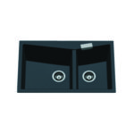 Carysil Deluxe #800 (2 Bowl) Size: 800mm x 500mm x 205mm