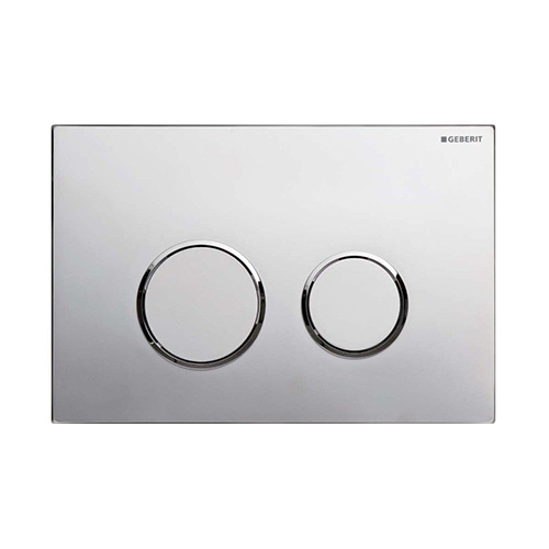 Geberit Sigma 20. Stainless steel or plastic. Available in Matt / Bright Chrome. Black/ Silver / White